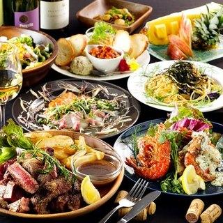 『善-ZEN-でご宴会!飲み放題付きコース3,500円より♪