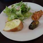 アスパラガス - ランチ サラダ&自家製パン