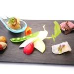 リストランテ カーサ瀬戸内 - 前菜の盛り合わせ