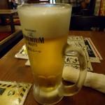 居酒屋革命 酔っ手羽酒場 - 「生ビール」ハッピーアワーで190円也。