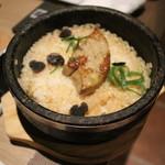 神楽坂焼肉 Kintan - フォアグラとトリュフの石焼ビビンバ