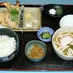 うどんおにがしま - 天ぷら付定食
