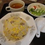 68187301 - チャーハン・スープ サラダ付き