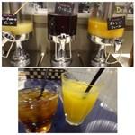 68191072 - ◆+200円(外税)でドリンクバーをつけました。 オレンジジュースと烏龍茶を。
