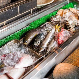 毎日仕入れる、旬もの新鮮魚介!湘南地魚
