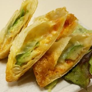 【こだわり①】アボカドとチーズの春巻き