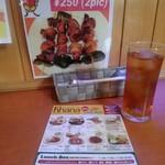 インドハラルレストランカーナカバブ - お弁当待ち時間サービスのアイスティ