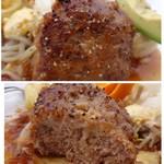 サンセット - *ハンバーグは照り焼き風の味わいで美味しい。