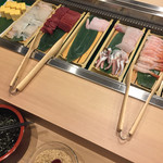 68195806 - 玉子焼き・イカ・まぐろ・サメガレイ・                       イカゲソボイル・エビ