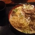 伝丸 都岡店 - 牛ざるらーめん 730円
