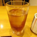 うなぎ料理 江戸川 - OPEN記念で鰻重(上)注文でサービスのソフトドリンクのウーロン茶