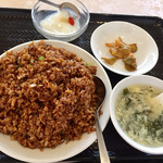 中国美食 唐苑酒楼 - うなぎ黒醤油チャーハンセット