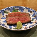 68198455 - 宮崎県黒毛和牛のヒレ肉の炭火焼