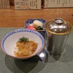 日本料理 とくを - じゃこ紫蘇ご飯、赤出汁、香の物