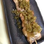 炭火焼鳥囀々 - 当店名物山葵香る大人の豚バラ