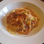 Naga~n cucina italiana - パスタ、ツナとセロリのトマトソース