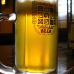 野半の里 こんにゃく座 - 紀北で唯一生産されている木の国 野半ビール ピルスナー 420円 08/08