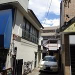 味処 佐とう - 分倍河原駅からの通りから見た風景。この2階がお店!