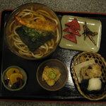 與平 - あきんど定食(うどん)(温)(1050円)(2010/10/15)