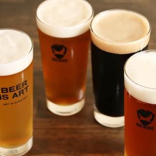 クラフトビールの生4タップあり