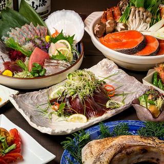 鮮度抜群の雲丹をはじめ、朝獲れ鮮魚を使用した創作和食料理♪