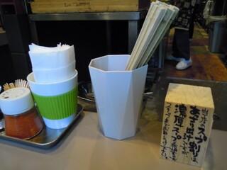 つけ麺 五ノ神製作所 - スープ割は、こってりも選べる
