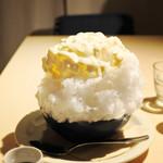 68220089 - 酒粕と自家製練乳のカキ氷withふなぐち菊水一番