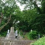 うなぎ専門店 本多 - 近所の山に  ある お墓