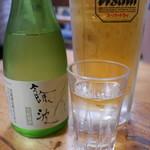68221022 - 生ビールと黒龍300ml瓶。