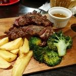 68221926 - 赤身ランプとザブトンの 贅沢牛肉ステーキ食べ比べ!!