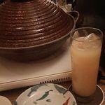 mus - 蒸し鍋・桃のソフトドリンク