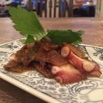 名古屋肉居酒屋ぽっ花 - たまり漬け生姜とタコの和え物