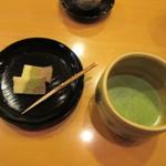 懐石料理 はし本 - デザートと抹茶