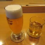懐石料理 はし本 - ビールの注ぎが上手~