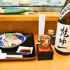 ほてい寿司 - 料理写真:お造り盛り合わせ & 冷酒(乾坤一 特別純米辛口)