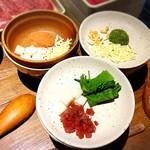 しゃぶしゃぶ温野菜 - ツミレは自分で作ります!混ぜ混ぜして楽しい!
