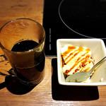 しゃぶしゃぶ温野菜 - デザートはアイスクリームとホットコーヒーをチョイス