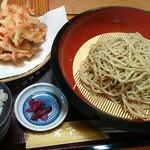 そば処宮下 - 料理写真:野菜かき揚げ天盛そば