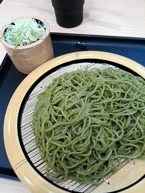 狭山そば 西新宿五丁目店 - 狭山茶そば¥470+大盛¥100