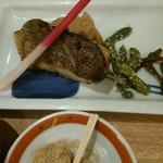 68237074 - 17/5 メバルの西京焼と野菜添え定食:1058円(税込)