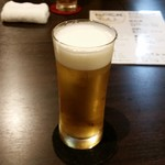 和の時 おでん 月と熊 - ドリンク写真:月と熊 乾杯のビール