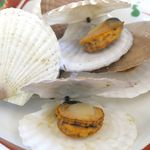 帆立小屋 - 「地元・お花見定食」には、ほたて稚貝酒蒸し