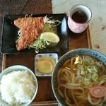 麺房山形屋 - 料理写真:アジフライ定食(税込み850円)