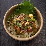 【おすすめ】エビスの選べる海鮮丼 (鯵のりゅうきゅう)