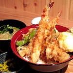 まる福 - 米油で揚げる天ぷら