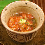 竹屋町 三多 - 料理写真:上賀茂のトマトと蓴菜