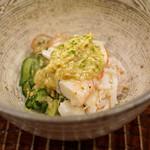 竹屋町 三多 - 毛蟹と胡瓜の酢の物