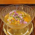 竹屋町 三多 - 京都府間人の雲丹と上賀茂茄子の素麺