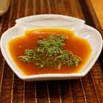 竹屋町 三多 - 花山椒と実山椒のタレで頂きます