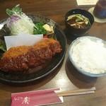 とんかつの廣 - 料理写真:匠ロースカツ定食 厚切り200g 2,280円